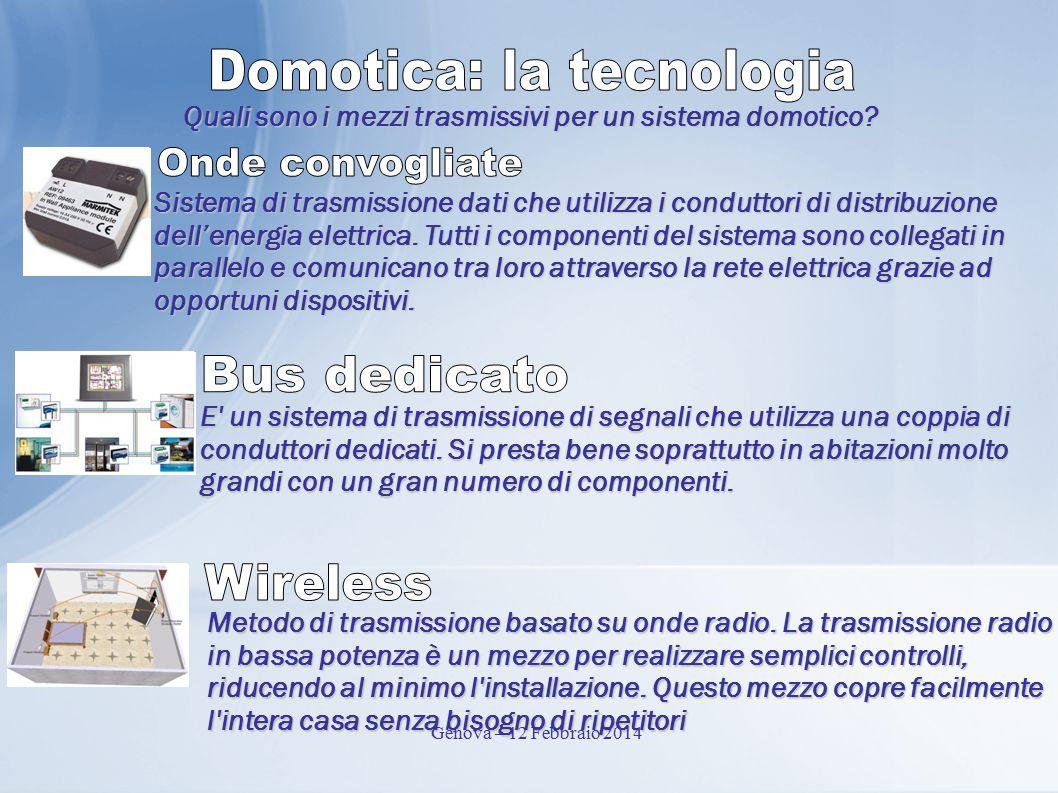 Quali sono i mezzi trasmissivi per un sistema domotico.