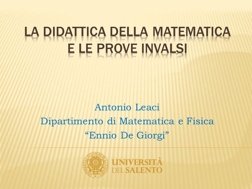 """Antonio Leaci Dipartimento di Matematica e Fisica """"Ennio De Giorgi"""""""