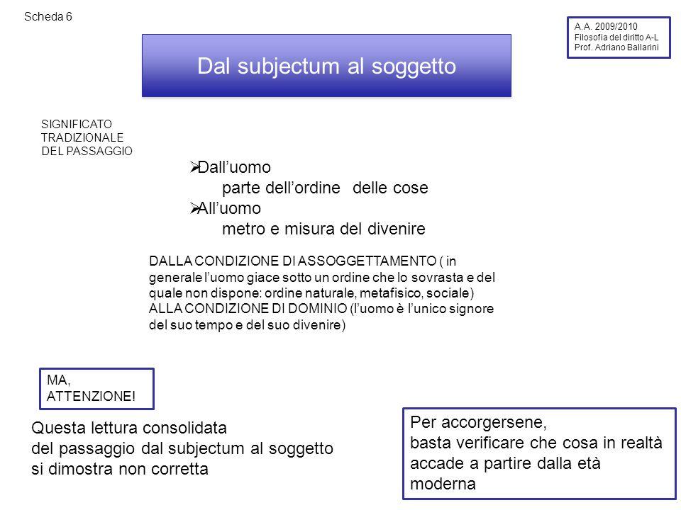 Scheda 26 A.A.2009/2010 Filosofia del diritto A-L Prof.