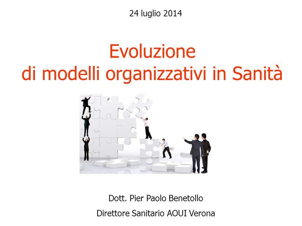 Evoluzione di modelli organizzativi in Sanità Dott.