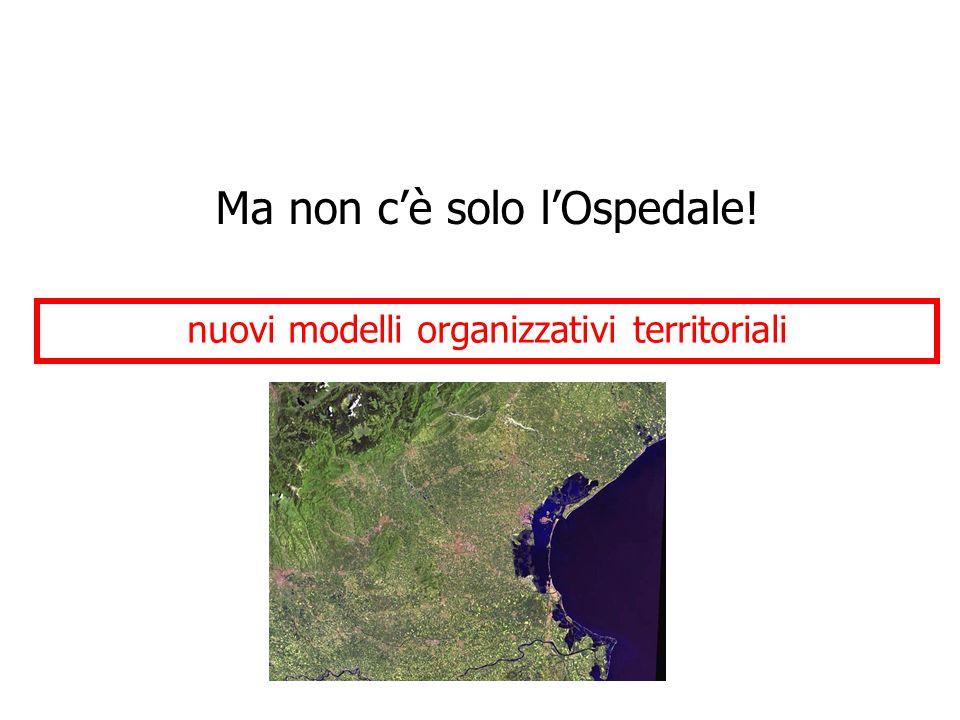nuovi modelli organizzativi territoriali Ma non c'è solo l'Ospedale!