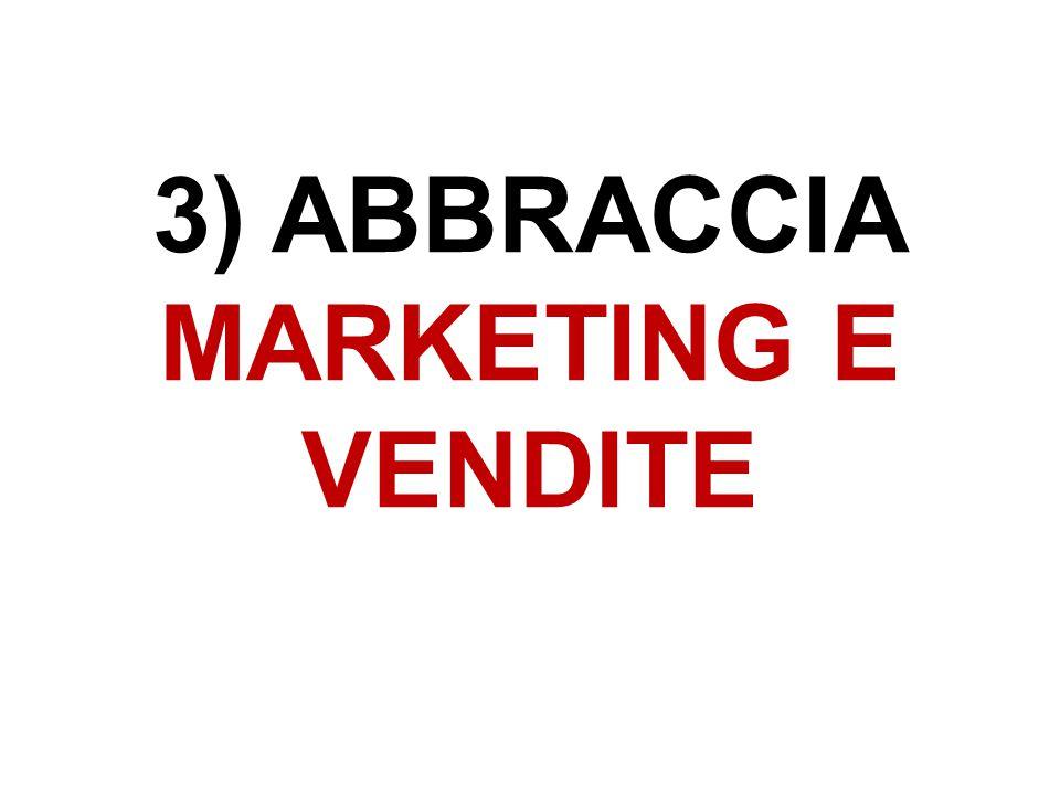 3) ABBRACCIA MARKETING E VENDITE