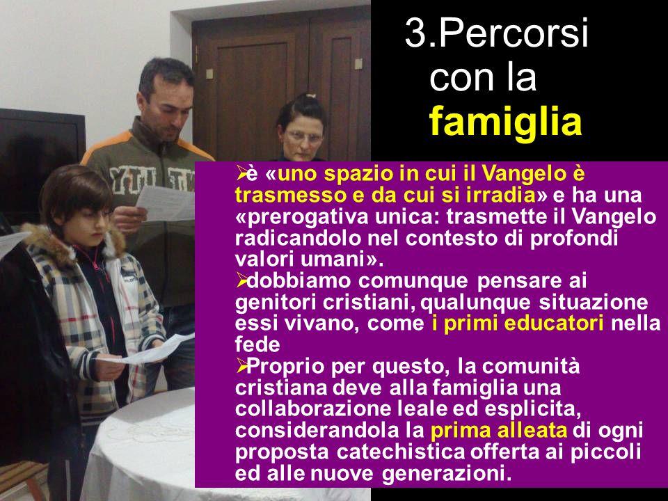 3. la proposta Capitolo 1 – Abitare con speranza il nostro tempo Un nuovo impegno di evangelizzazi one (8-31) 3.Percorsi con la famiglia  Per la vita