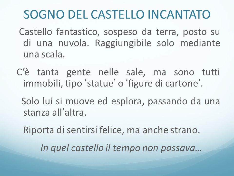 SOGNO DEL CASTELLO INCANTATO Castello fantastico, sospeso da terra, posto su di una nuvola.