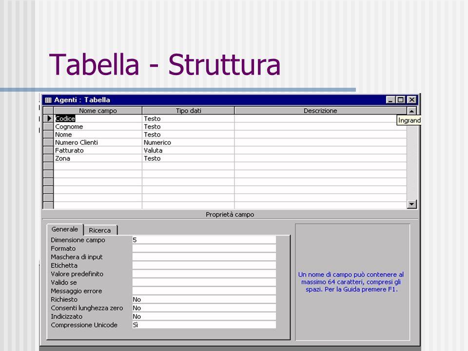 26 Tabella - Struttura