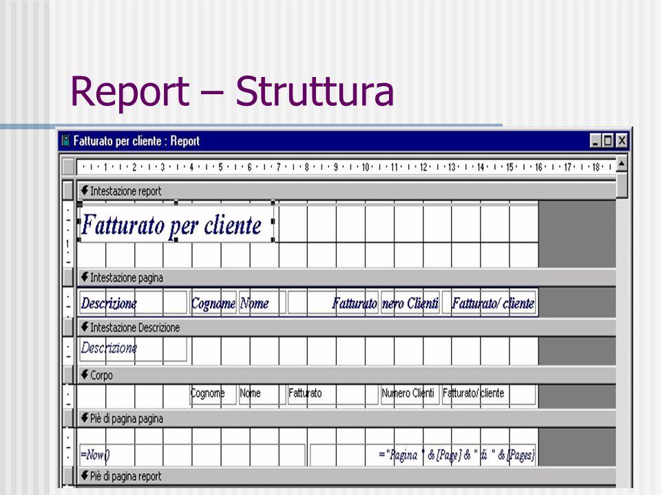 41 Report – Struttura
