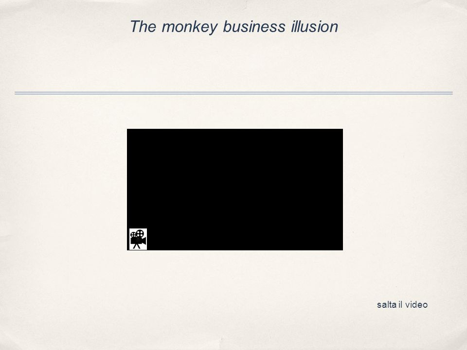 The monkey business illusion salta il video