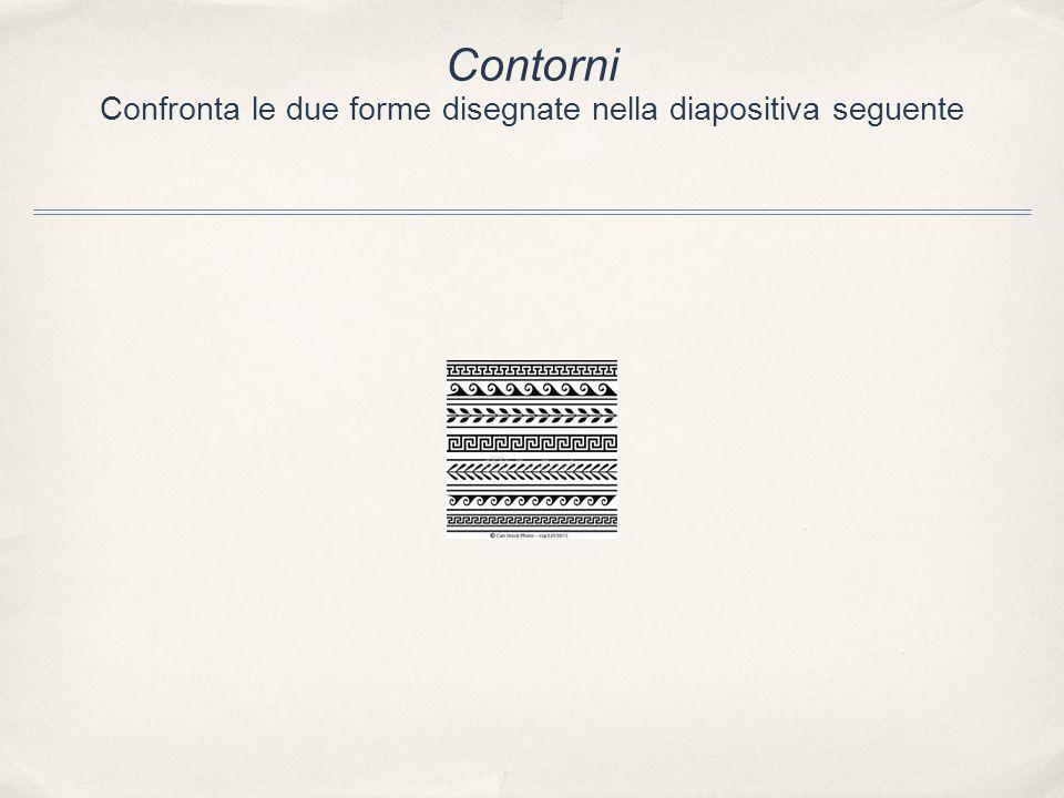 Contorni Confronta le due forme disegnate nella diapositiva seguente