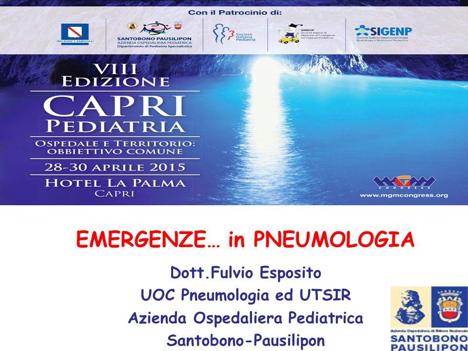 Emergenze in… Pneumologia Insufficienza Respiratoria Acuta Arresto Respiratorio F.