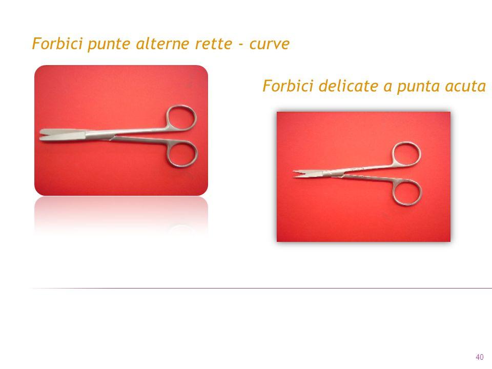 Forbici punte alterne rette - curve Forbici delicate a punta acuta 40
