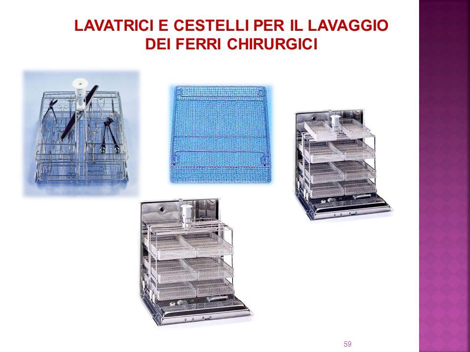 LAVATRICI E CESTELLI PER IL LAVAGGIO DEI FERRI CHIRURGICI 59