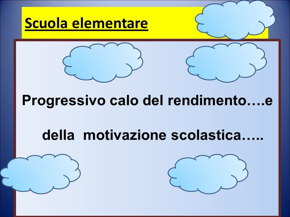 Scuola elementare Progressivo calo del rendimento….e della motivazione scolastica…..