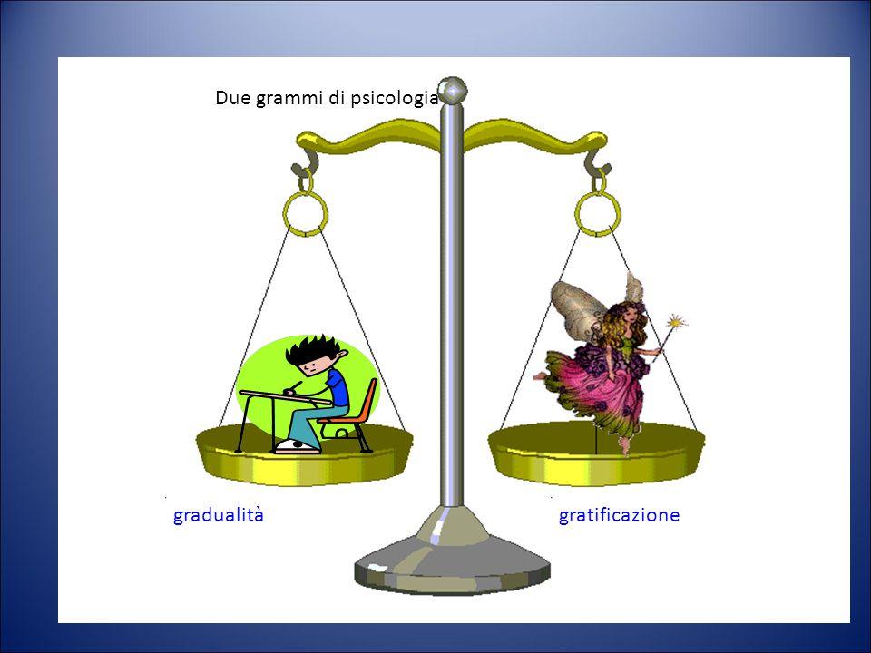 Due grammi di psicologia gradualità gratificazione Due grammi di psicologia