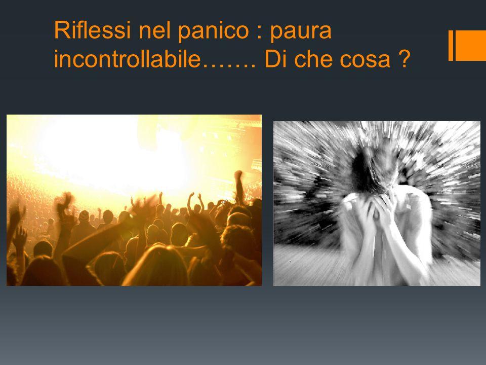 Riflessi nel panico : paura incontrollabile……. Di che cosa ?