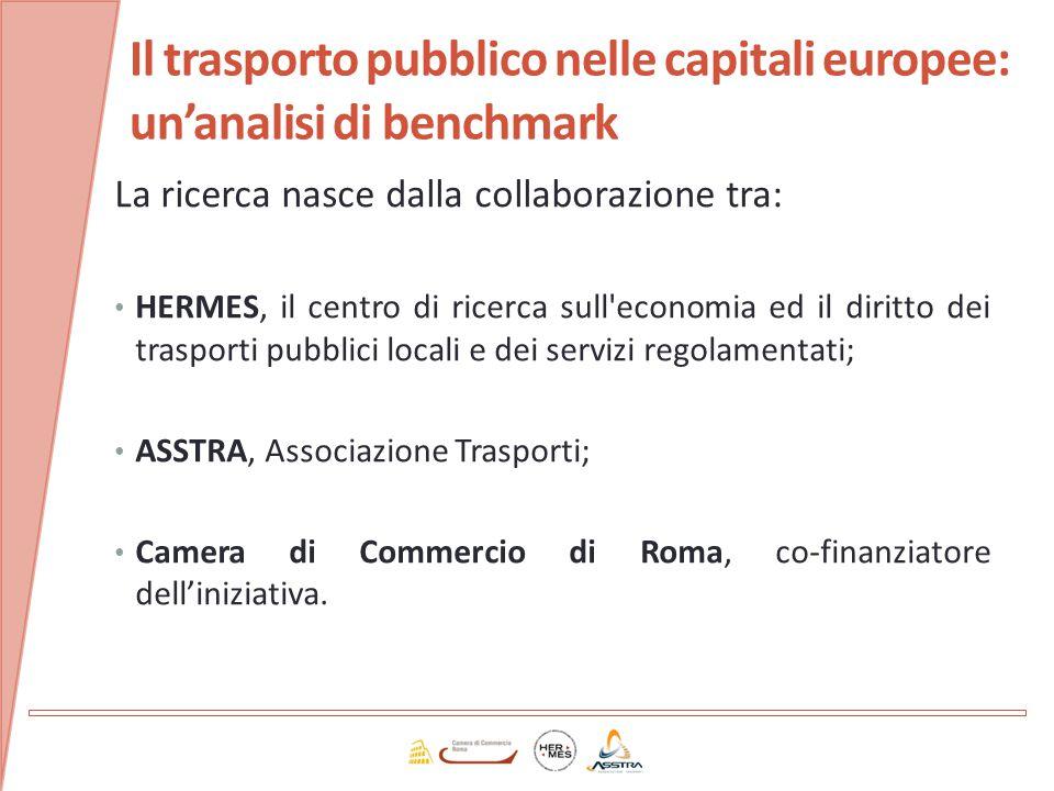 La ricerca nasce dalla collaborazione tra: HERMES, il centro di ricerca sull'economia ed il diritto dei trasporti pubblici locali e dei servizi regola