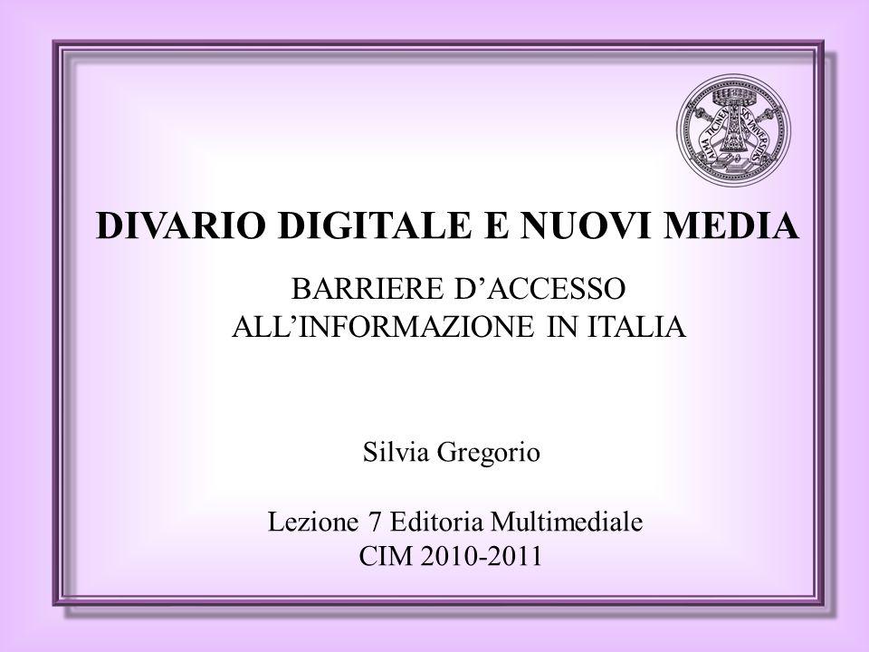 PANORAMA ITALIANO DIETA MEDIATICA per titolo di studio Nessun cambiamento consistente dal 2001 al 2008