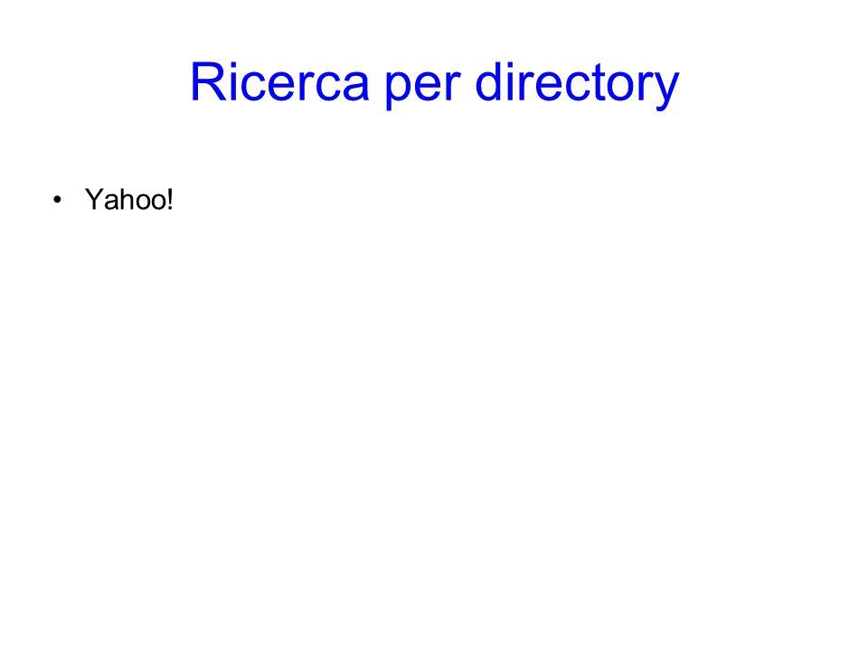 Ricerca per directory Yahoo!