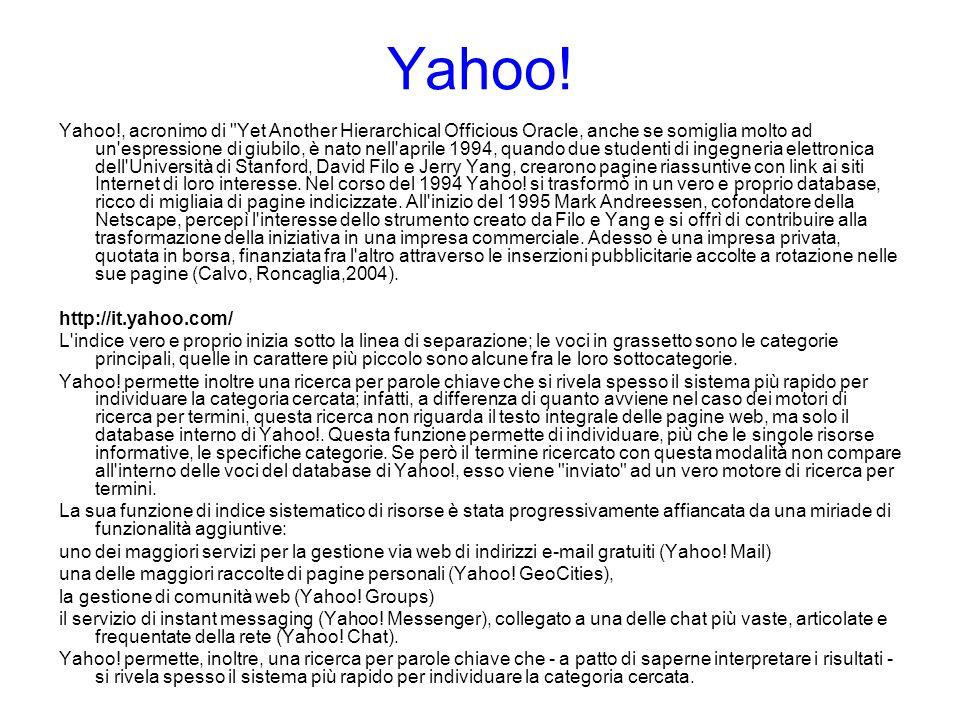 Yahoo!, acronimo di