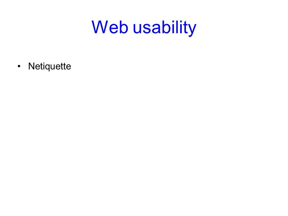 Web usability Netiquette