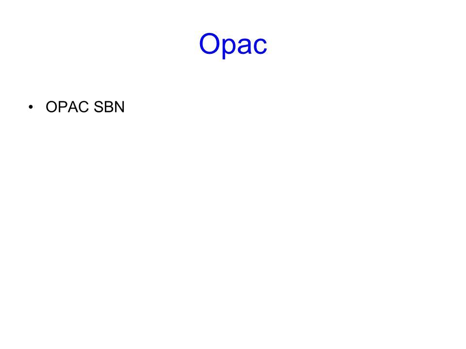 Opac OPAC SBN