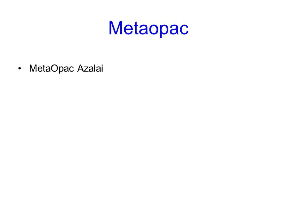 Metaopac MetaOpac Azalai