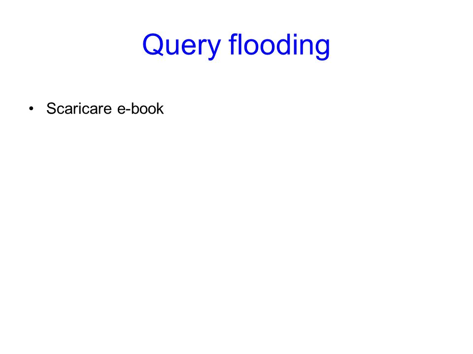 Query flooding Scaricare e-book