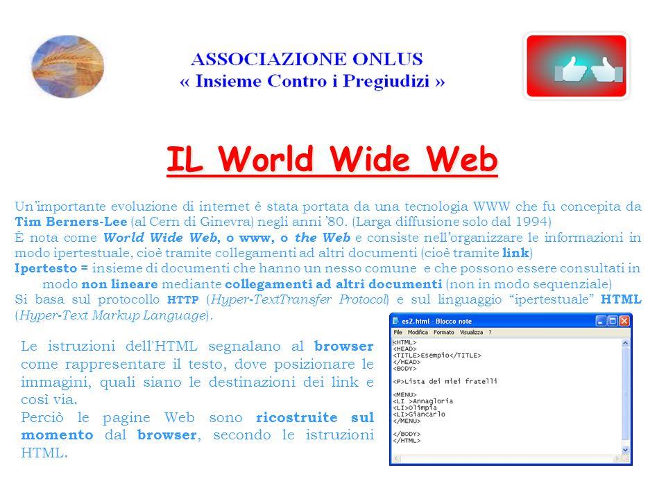 Un'importante evoluzione di internet è stata portata da una tecnologia WWW che fu concepita da Tim Berners-Lee (al Cern di Ginevra) negli anni '80.