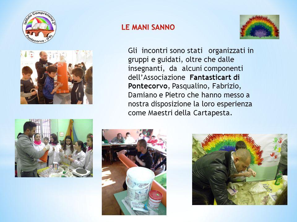 Gli incontri sono stati organizzati in gruppi e guidati, oltre che dalle insegnanti, da alcuni componenti dell'Associazione Fantasticart di Pontecorvo
