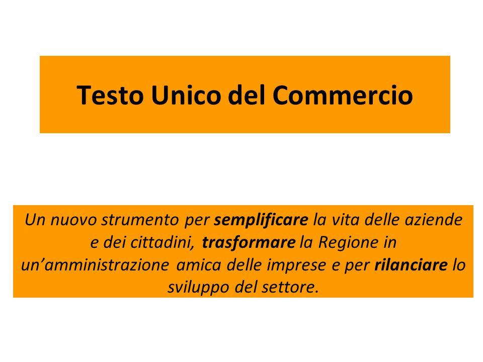 3.Innovazioni: commercio su aree pubbliche Il T.U.