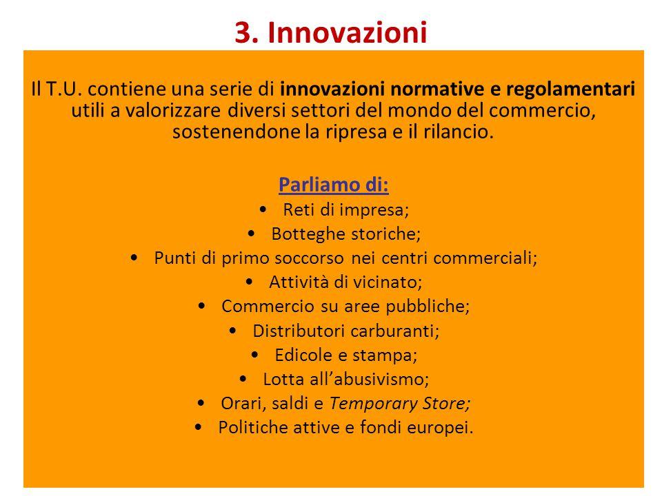 3. Innovazioni Il T.U.