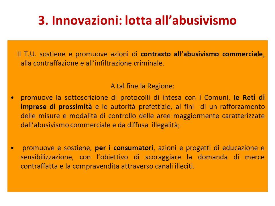 3. Innovazioni: lotta all'abusivismo Il T.U.