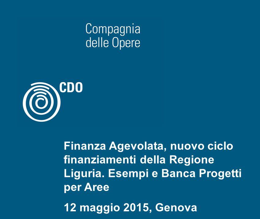 1riferimento Finanza Agevolata, nuovo ciclo finanziamenti della Regione Liguria.