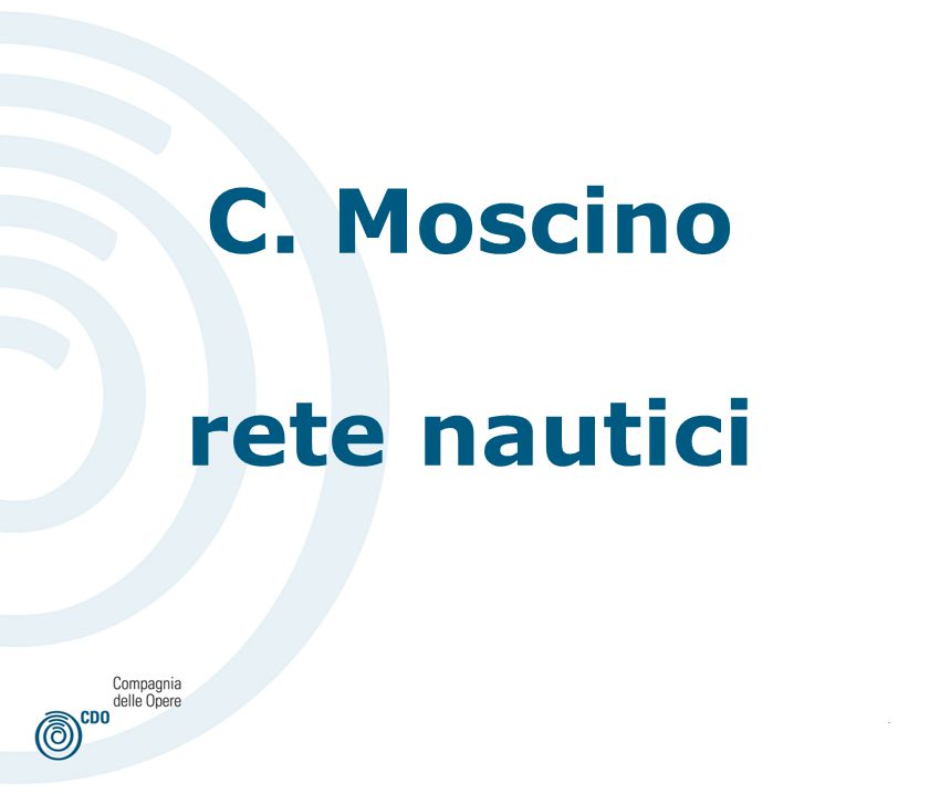 . C. Moscino rete nautici