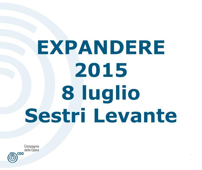 . EXPANDERE 2015 8 luglio Sestri Levante
