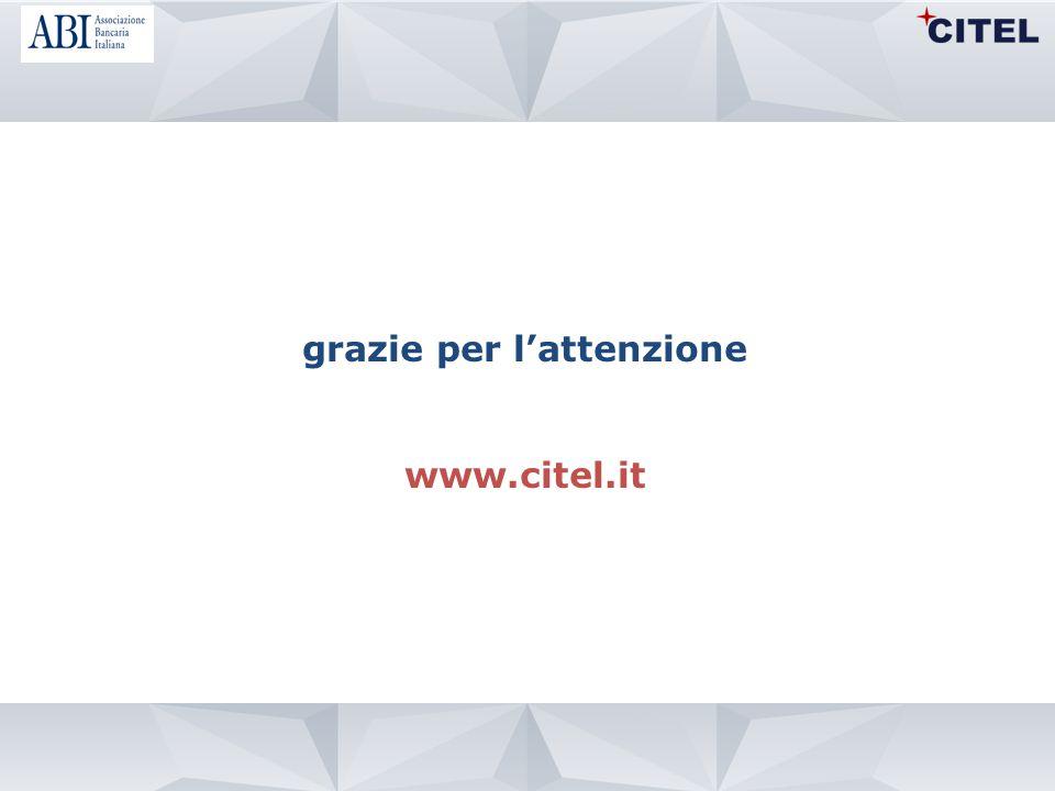 grazie per l'attenzione www.citel.it