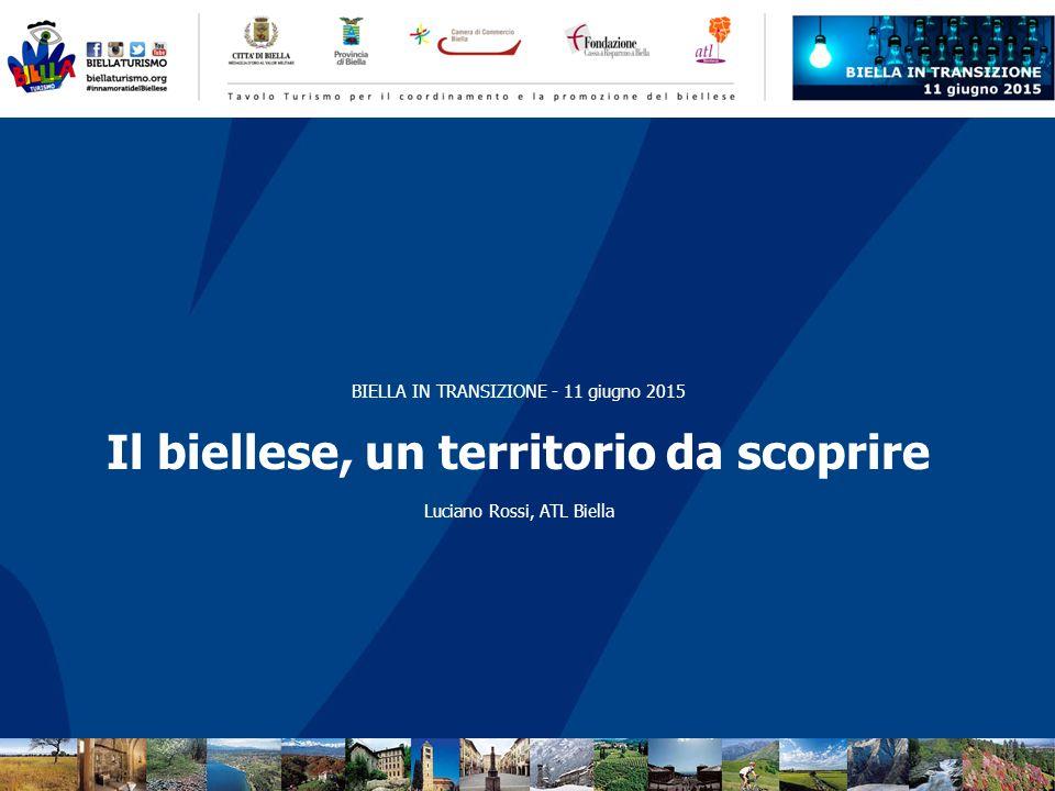 BIELLA IN TRANSIZIONE - 11 giugno 2015 Il biellese, un territorio da scoprire Luciano Rossi, ATL Biella