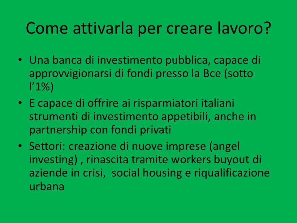 Incentivare chi investe sull'Italia Patrimoniale sì ma….