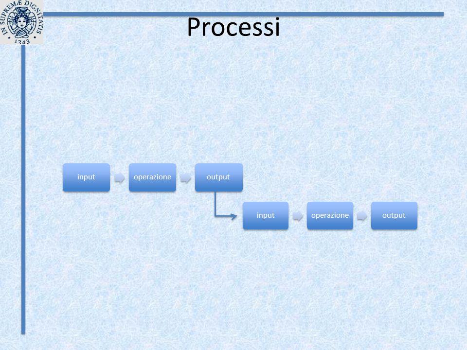 Processi inputoperazioneoutput inputoperazioneoutput