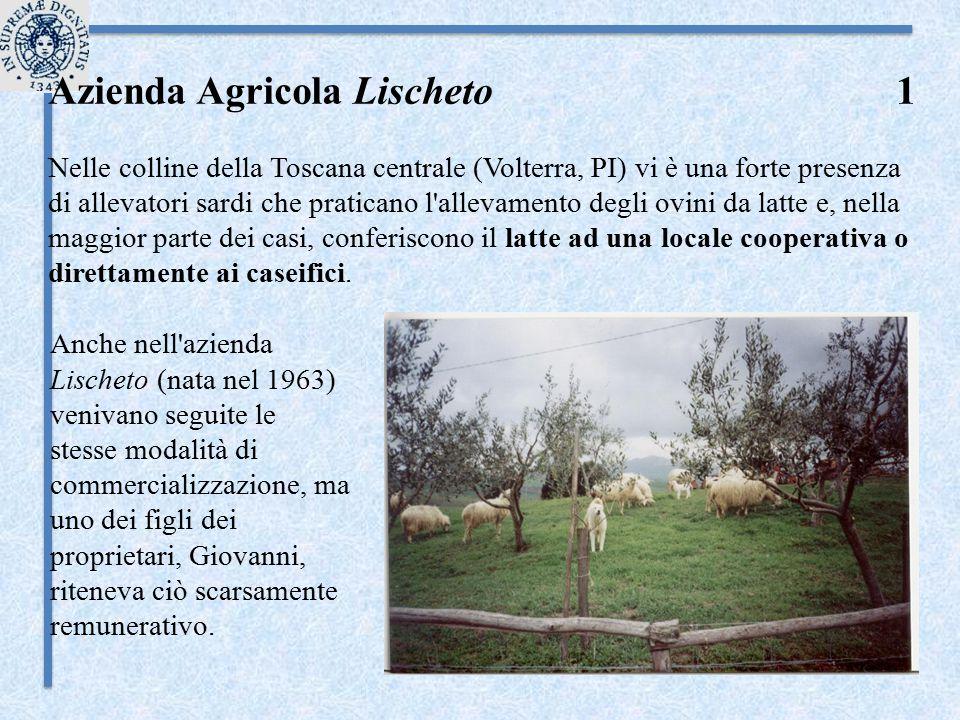 Azienda Agricola Lischeto 1 Nelle colline della Toscana centrale (Volterra, PI) vi è una forte presenza di allevatori sardi che praticano l'allevament