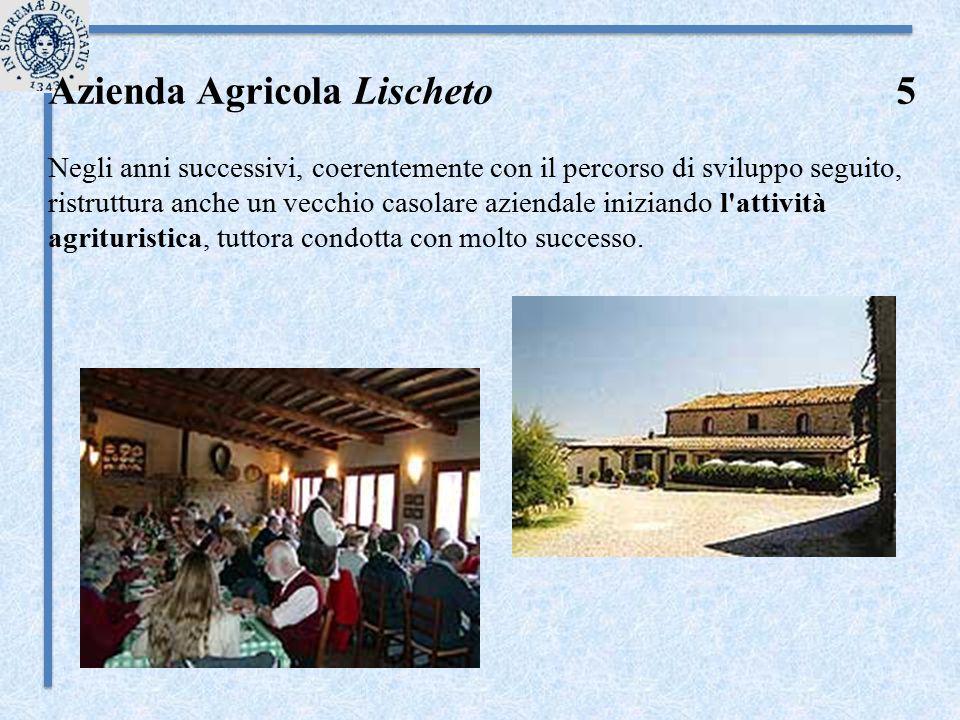 Azienda Agricola Lischeto 5 Negli anni successivi, coerentemente con il percorso di sviluppo seguito, ristruttura anche un vecchio casolare aziendale
