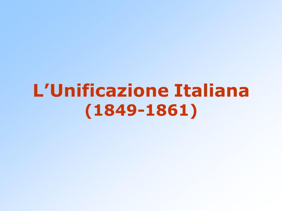 L'Unificazione Italiana (1849-1861)