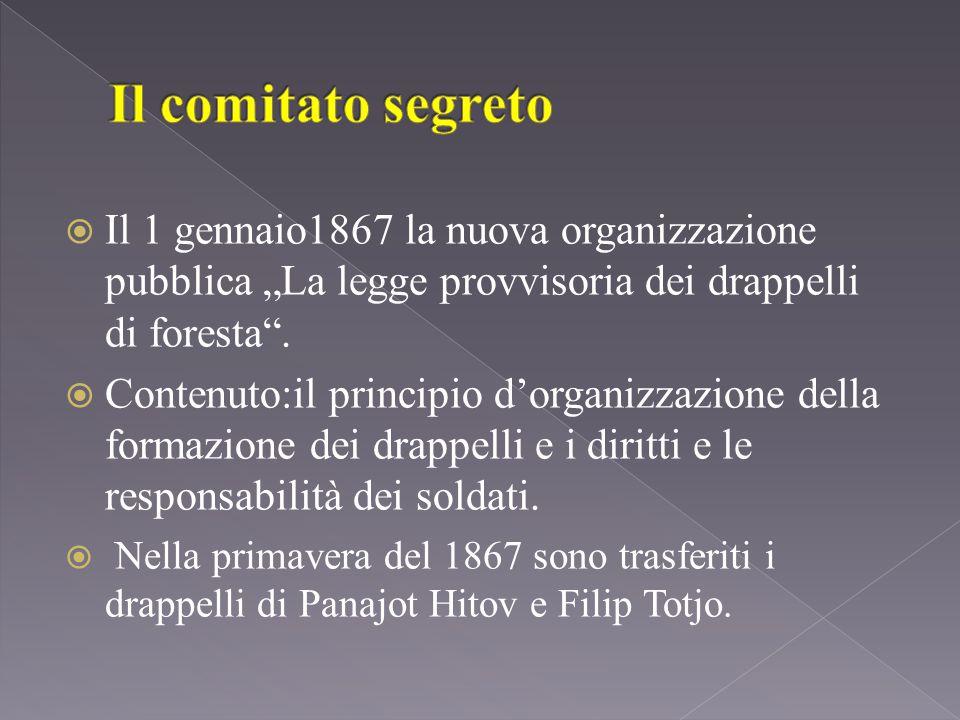 """ Il 1 gennaio1867 la nuova organizzazione pubblica """"La legge provvisoria dei drappelli di foresta ."""