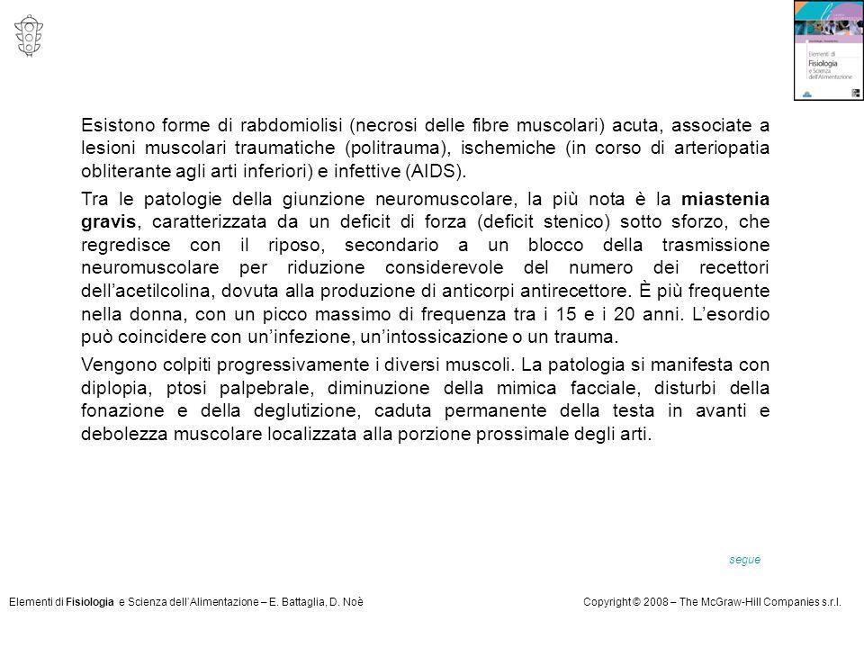 Elementi di Fisiologia e Scienza dell'Alimentazione – E. Battaglia, D. NoèCopyright © 2008 – The McGraw-Hill Companies s.r.l. Esistono forme di rabdom
