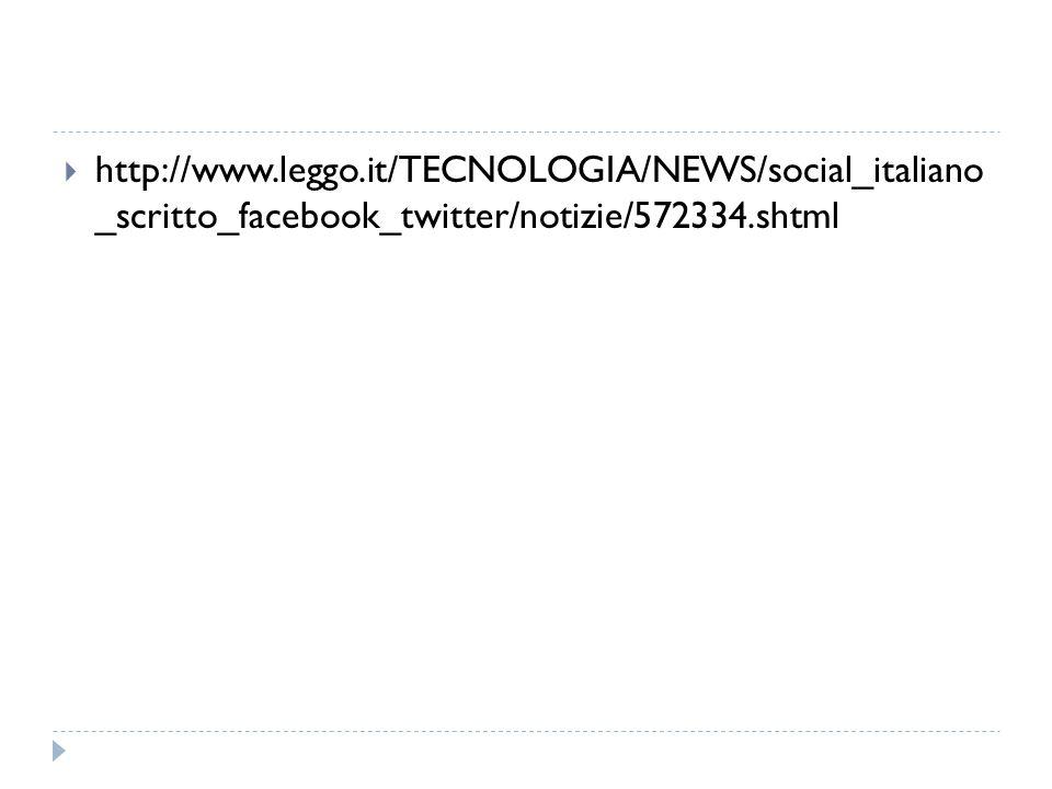  http://www.leggo.it/TECNOLOGIA/NEWS/social_italiano _scritto_facebook_twitter/notizie/572334.shtml