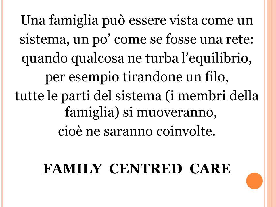 Una famiglia può essere vista come un sistema, un po' come se fosse una rete: quando qualcosa ne turba l'equilibrio, per esempio tirandone un filo, tutte le parti del sistema (i membri della famiglia) si muoveranno, cioè ne saranno coinvolte.