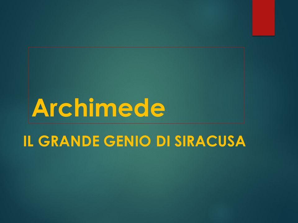 La vite di Archimede oggi