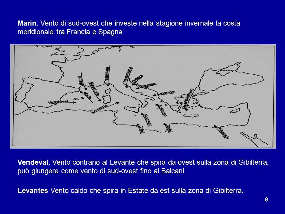 8 2.Venti tipici del bacino del mediterraneo Chamsin (dall arabo khamasin).