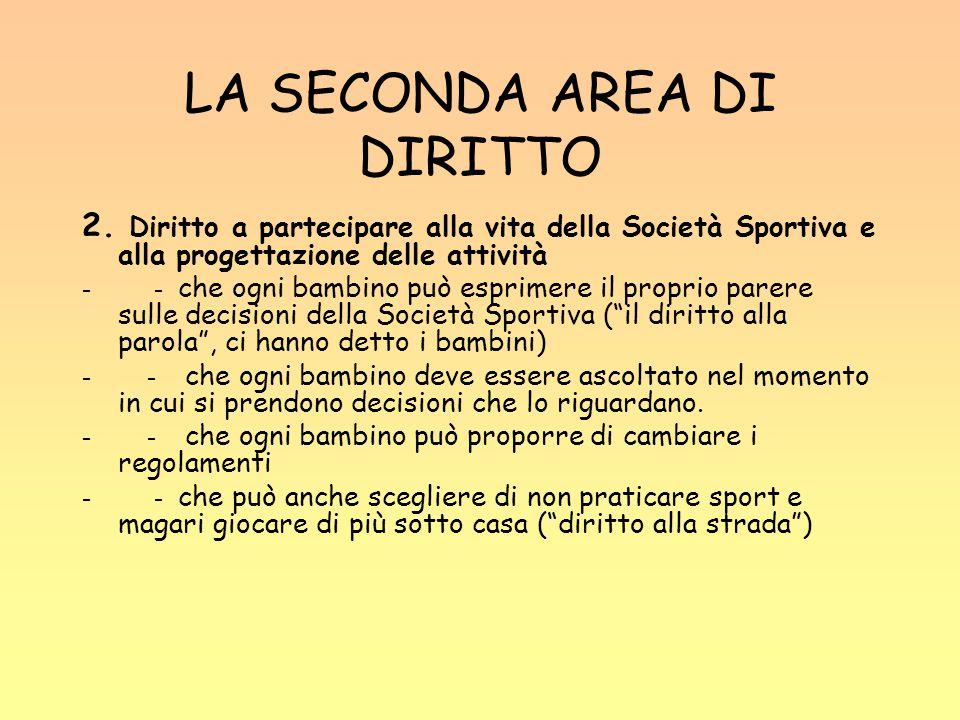 LA SECONDA AREA DI DIRITTO 2.