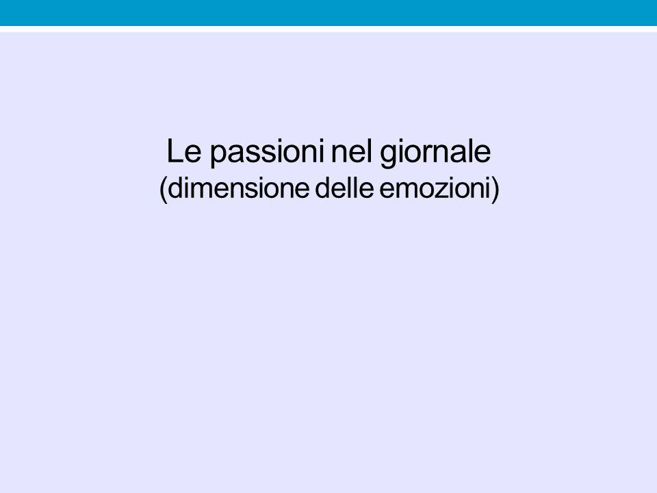 Le passioni nel giornale (dimensione delle emozioni)