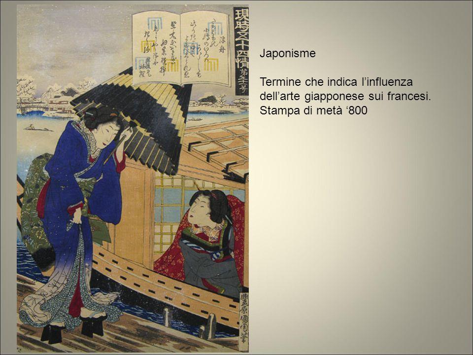 Japonisme Termine che indica l'influenza dell'arte giapponese sui francesi. Stampa di metà '800